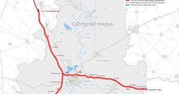 Csongrád megye térképe