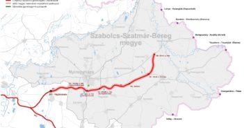 Szabolcs-Szatmár-Bereg megye térképe