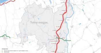 Tolna megye térképe