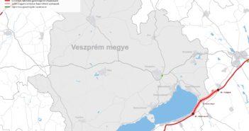 Veszprém megye térképe