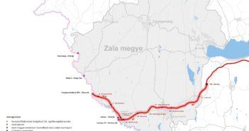 Zala megye térképe