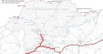 BAZ megyei térkép