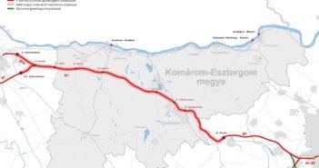 Komárom-Esztergom megye térképe